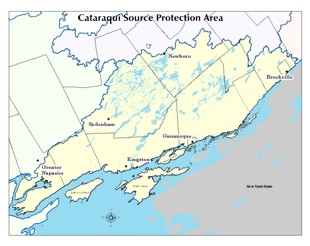Cataraqui Source Protection Area map