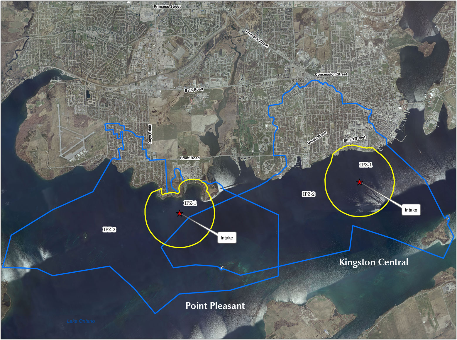 Point Pleasant and Kingston Central Intake Protection Zones